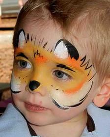 red fox face painting