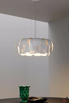 The Wig suspension lamp is a design by Chris Hardy for FontanaArte.