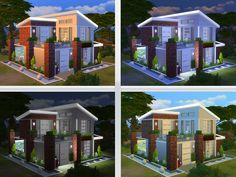 Lovely two story house for your single sim or couple Found in TSR Category 'Sims 4 Residential Lots'
