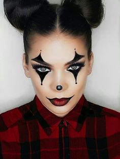 52 Ideas makeup looks halloween make up Maquillage Halloween Clown, Halloween Makeup Clown, Halloween Makeup Looks, Halloween 2018, Halloween Ideas, Halloween Costumes Diy Scary, Halloween Makeup Tutorials, It Costume, Halloween Hair