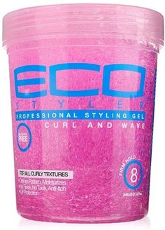 Eco Styler Professional Curl & Wave Firm Hold Styling Gel, Pink 32 oz (Pack of Curly Hair Tips, Curly Hair Care, Natural Hair Care, Curly Hair Styles, Natural Hair Styles, Wavy Hair, Curly Girl, Natural Curls, Gel Eco Styler