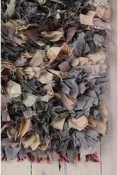 Textiles Surface Design - frayed fabric textures in muted colours; creative fabric manipulation // rug by Urban Outfitters. Urban Outfitters Rug, Medium Rugs, Textiles Techniques, Old Clothes, Fabric Textures, Fabric Manipulation, Fabric Scraps, Fabric Remnants, Fabric Rug
