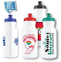 custom water bottle polyclear acrylostyrene imprinted with your