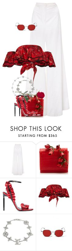"""""""Untitled #1392"""" by jetadorejas ❤ liked on Polyvore featuring Nancy Gonzalez, Yves Saint Laurent, Johanna Ortiz and Louis Vuitton"""