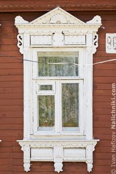 Traditional window frame (Nalichnik) from Egoryevsk, near Moscow, Russia
