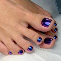 Best toe nail art ideas for 2019 pedicure ideas tånaglar, na Toe Nail Color, Toe Nail Art, Nail Colors, Toe Nail Polish, Metallic Nail Polish, Pastel Colors, Pedicure Nail Art, Nail Manicure, Fish Pedicure