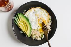 Rice Bowl with Fried Egg and Avocado - Bon Appétit