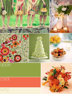 Color Palette Idea: Apple, Coral & Ivory