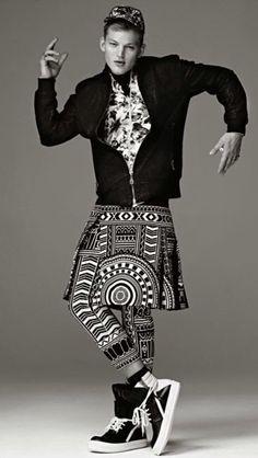 Print. Pattern. Black and white menswear. #mizustyle