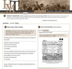 Free Technology for Teachers: Historical Thinking Matters - Multimedia Investigations in U.S. History