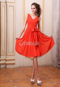 Outdoor langes luxus knielanges Abiballkleid/ Festliche Kleid aus Chiffon