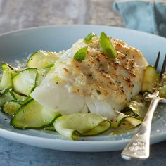 This easy Cod Parmesan with Zucchini Noodles has just 2 simple steps. Get the recipe from Food & Wine.
