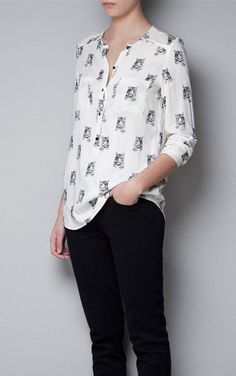 Tiger Head Casual Cotton Blouse-$11.90FREE SHIPPING
