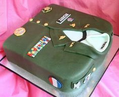 Great Welcome Home Cake for a soldier.