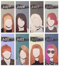 I miss the 2007-2010 hairstyles, but I love that she plays around with colors and styles