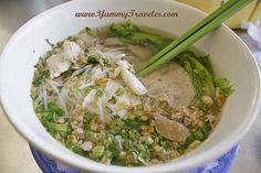 Pork Kuy Teav ( Rice noodle soups ) - Cambodian Food || #Cambodia
