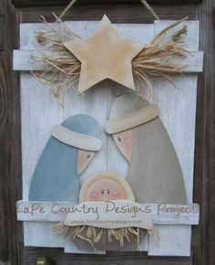 The Best gift was born in a manger Christmas Wooden Signs, Christmas Wood Crafts, Christmas Nativity Scene, Nativity Crafts, Christmas Art, Christmas Projects, Holiday Crafts, Christmas Holidays, Nativity Ornaments