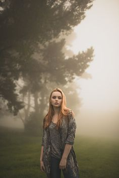 Natural outdoor portraits with megan bea tiernan in mist, fog forest in killiney hill 0009