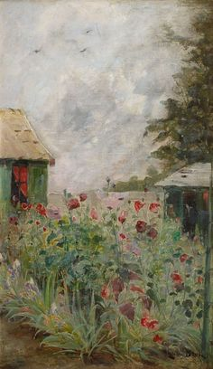 JULIA BECK Blossoming Poppies (1896)