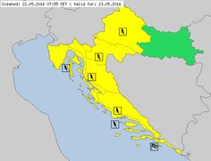 Meteoalarm - severe weather warnings for Europe - Mainpage - Croatia (Hrvatska)