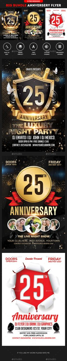 Anniversary / Event / Birthday Celebration Flyer | Birthday