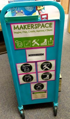 In August, I shared the wonderful story of my sister Heather's plan to turn one of the old book carts into a Makerspace for her students i...