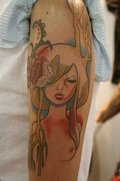 Audrey Kawasaki Tattoo by Knuckle Energy Tattoo