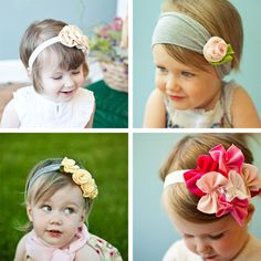 Cutest Baby Headbands Just in case we have a girl :) My Baby Girl, My Little Girl, Baby Love, Cute Kids, Cute Babies, Baby Kids, Kids Diy, Baby Baby, Diy Baby Headbands