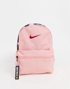 Nike mini backpack in pink Cute Mini Backpacks, Little Backpacks, Girl Backpacks, Leather Backpacks, Leather Bags, Nike Air Force, Air Force 1, Nike School Backpacks, Mochila Tommy