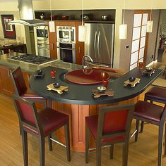 Popular I love the lazy Susan idea in the center of the curved kitchen spectator