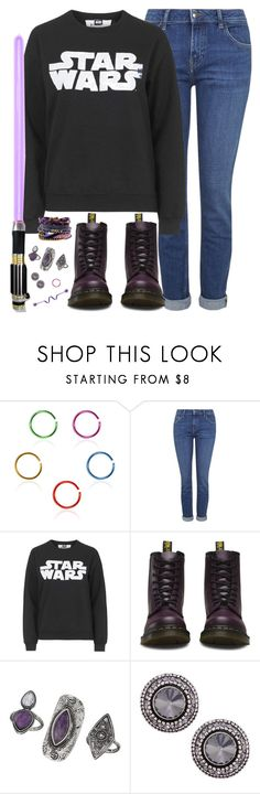 """""""Let the ocean take me."""" by rocketsheep ❤ liked on Polyvore featuring Topshop, Dr. Martens, Hipanema, lyrics, starwars and TheAmityAffliction"""