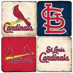 Saint Louis Cardinals Marble Coaster Set