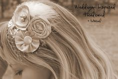 Family Ever After....: Wedding-Inspired Headband with French Netting