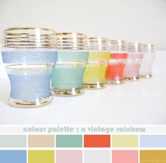 colour palette : a vintage rainbow, curated by Emma Lamb / photograph © emma lamb