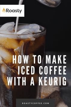 If you're trying to avoid paying money for an iced coffee when you already have a Keurig at home, you've come to the right place! It's 100% possible and surprisingly easy to do! Use our how-to guide to find out tips and tricks we've put together so you can get the most out of your home-brewed iced coffee. #coffeelovers #icedcoffee #roastycoffee #keurigcoffee Thai Iced Coffee, Vietnamese Iced Coffee, Making Cold Brew Coffee, How To Make Ice Coffee, Coffee Guide, Coffee Ideas, What Is A Frappe, Coffee Course, Coffee Brownies