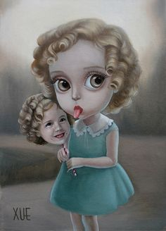 Art big head conceptual detail illustration mark ryden I love your Mark Ryden, Creepy Kids, Creepy Art, Weird Art, Art And Illustration, Fantasy Kunst, Fantasy Art, Arte Lowbrow, Manga Anime