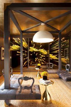 Infinity mirror! For more design: www.designaccommodation.com