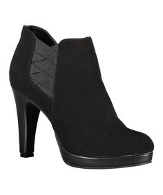 Another great find on #zulily! Black Film Watch Bootie #zulilyfinds