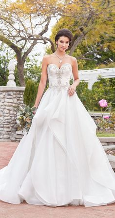 princess wedding dress from Kitty Chen Wedding Dresses Plus Size, Elegant Wedding Dress, Perfect Wedding Dress, Dream Wedding Dresses, One Shoulder Wedding Dress, Tulle Ball Gown, Ball Gown Dresses, Bridal Dresses, Wedding Dress Crafts