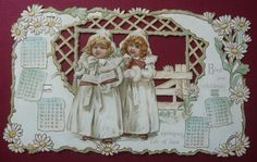 Alenquerensis: Calendários victorianos da firma Raphael Tuck & Sons - Victorian calendars from Raphael Tuck & Sons