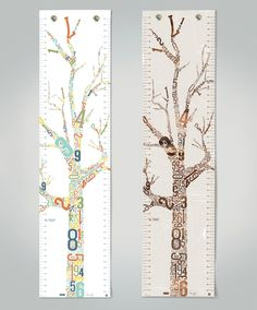 Growth Chart - Growing Tree - Canvas - children's wall art - modern by MIXTstudio on Etsy https://www.etsy.com/listing/158210892/growth-chart-growing-tree-canvas