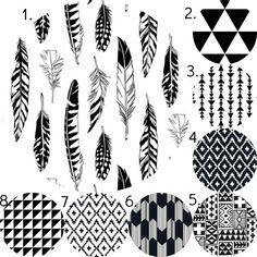 Tribal Crib Bedding Set, Gender Neutral Crib Sheet, Crib Skirt, Bumper, Changing Pad Cover, Black and White Southwest Aztec Nursery