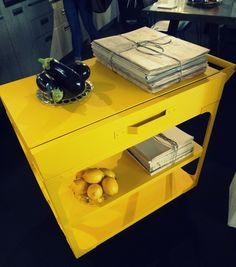 #kitchen #tarjoiluvaunu #habitare2014 #yellow #keltainen