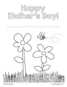 Enjoy This FREE Coloring Page By Spark Perfect For Mothers Day
