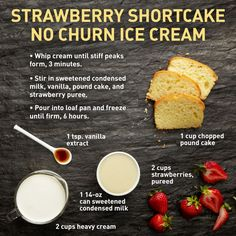 Strawberry Shortcake No-Churn Ice Cream - Make ice cream without a machine!