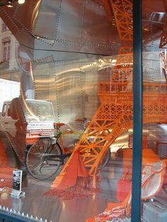 Hermes window, Paris, France#travel #france #paris #hermes #orange