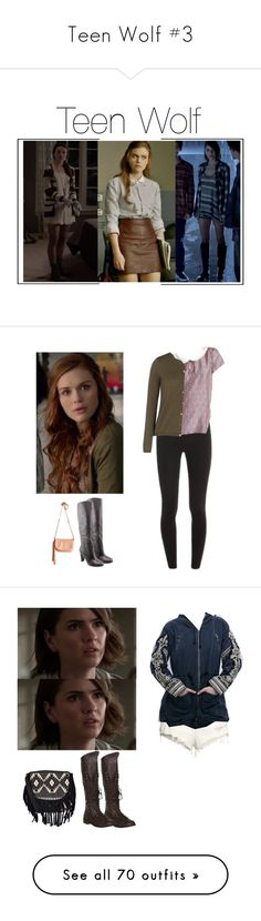 """Teen Wolf #3"" by shadyannon ❤ liked on Polyvore featuring Boohoo, H&M, Free People, WithChic, Michael Kors, T By Alexander Wang, rag & bone, Salvatore Ferragamo, Charlotte Russe and Miss Selfridge"