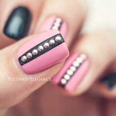 pink and black nails - Google Search
