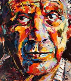 Pablo Picasso Print By Derek Russell