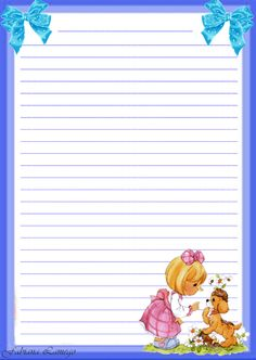 Notebook Paper Printable, Printable Lined Paper, Free Printable Stationery, Printable Recipe Cards, Lined Writing Paper, Writing Papers, Stationery Paper, Note Paper, Precious Moments